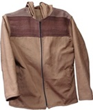 Jacket with awayo for men- brown