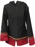 Jacket with awayo for women - red stripe