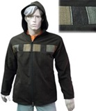 Jacket with awayo for men - dark brown