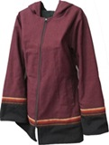 Jacket with awayo for women - burgundy