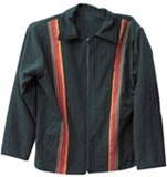 Jacket with awayo for men - red stripes
