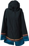 Jacket with awayo for women- green stripe