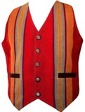 Leather and awayo vest - for man