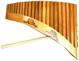 Panflute Nai with Balsam wood - 22 tubes with incrustations